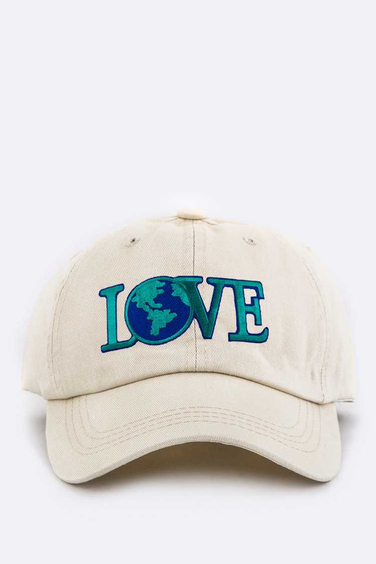 LOVE Embroidery Cotton Cap