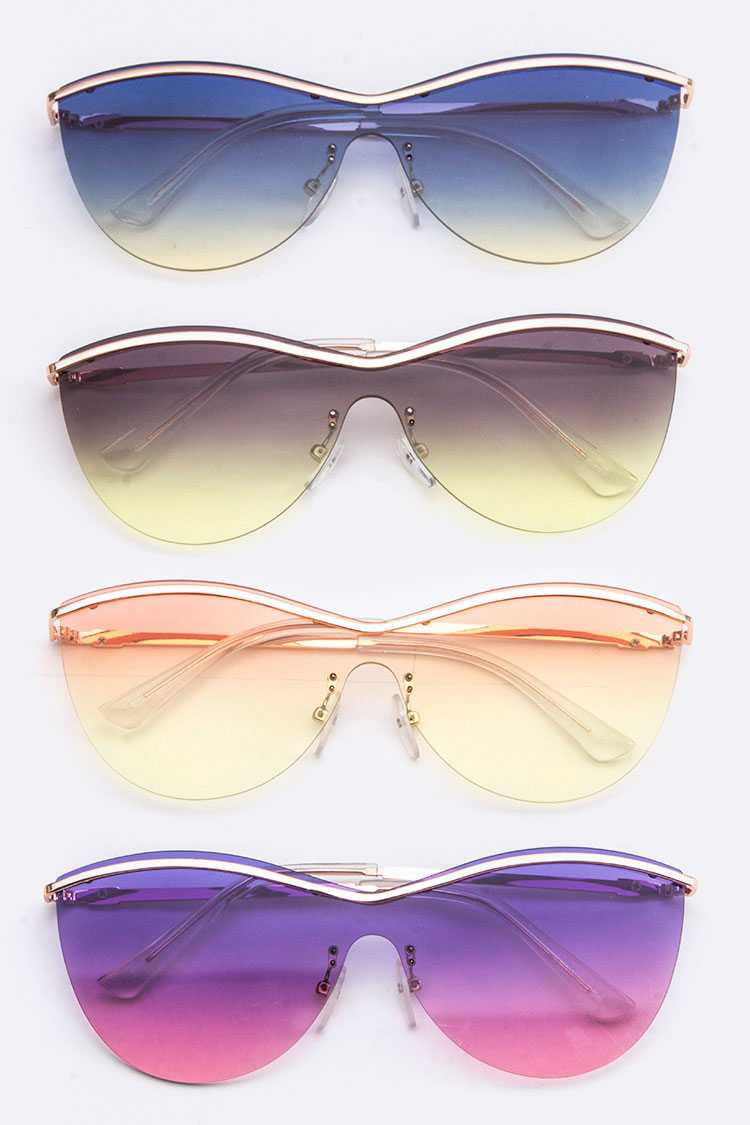 Iconic Gradient Color Unilens Sunglasses