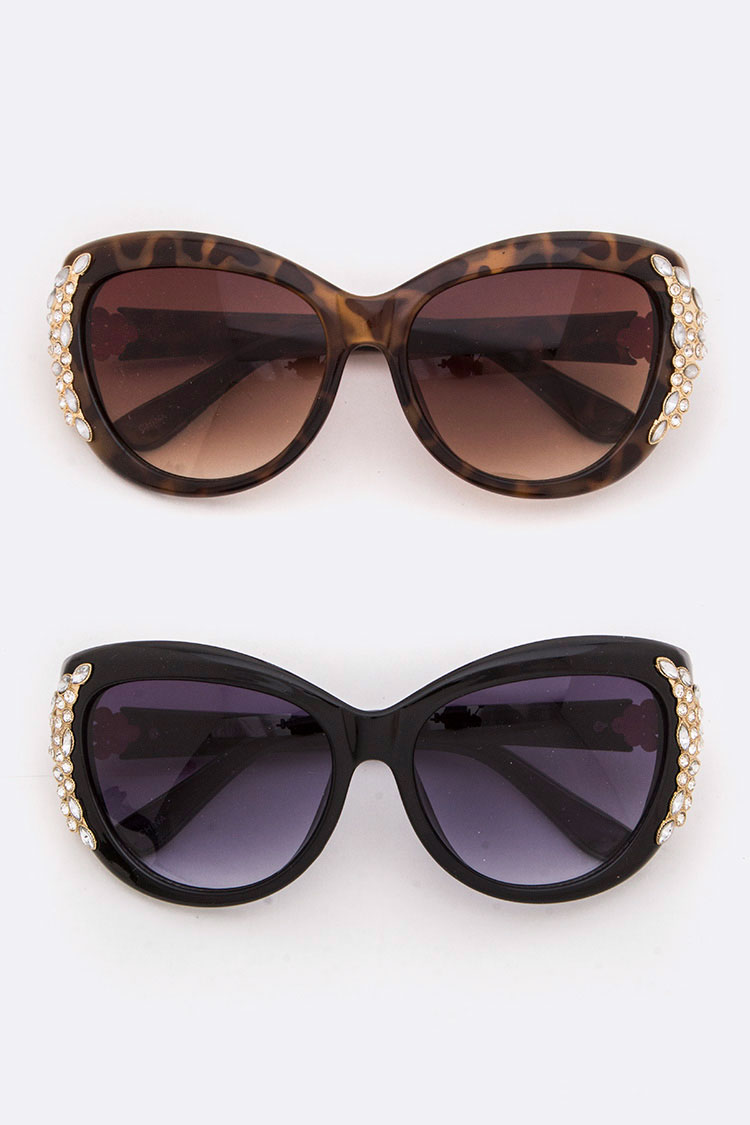 Crystal Accent Butterfly Sunglasses