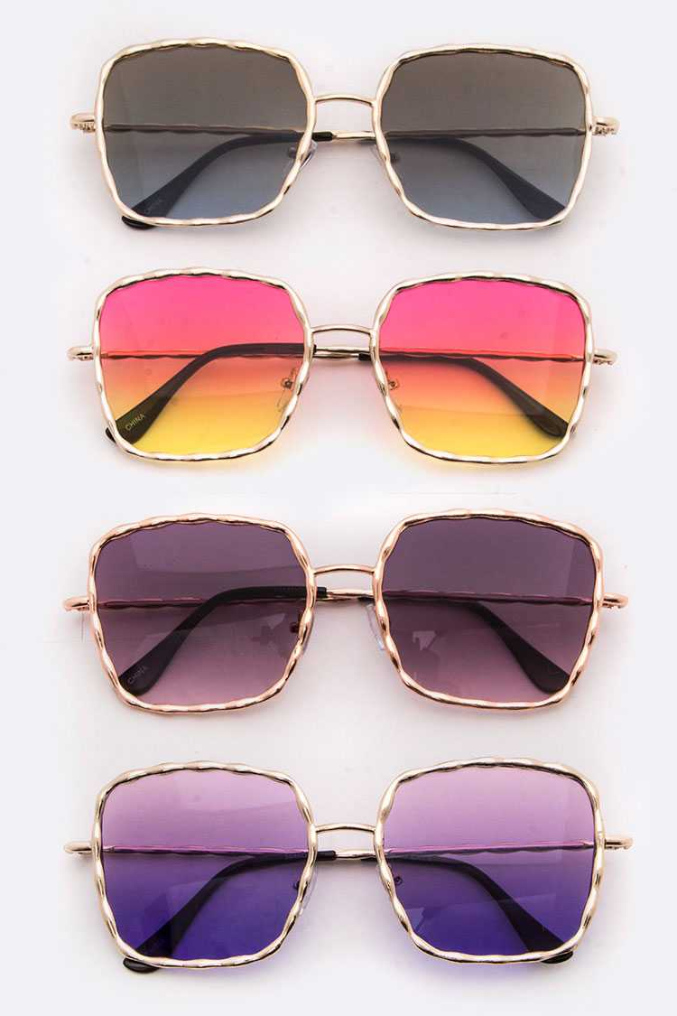 Gradient Lens Fashion Square Sunglasses