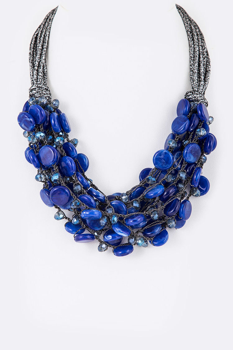 Mix Beads Iconic Statement Necklace