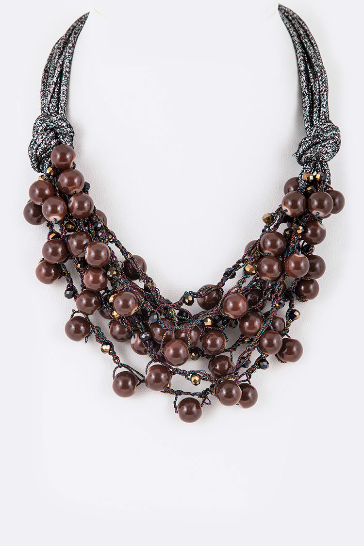 Lace Beads Iconic Layer Necklace