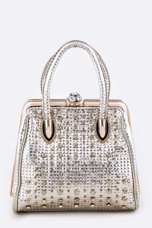 Pyramid Embossed Mix Studs Bag