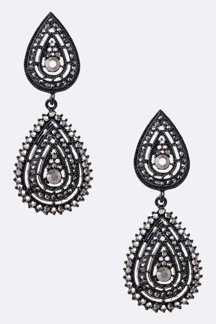 Crystal Teardrop Iconic Earrings