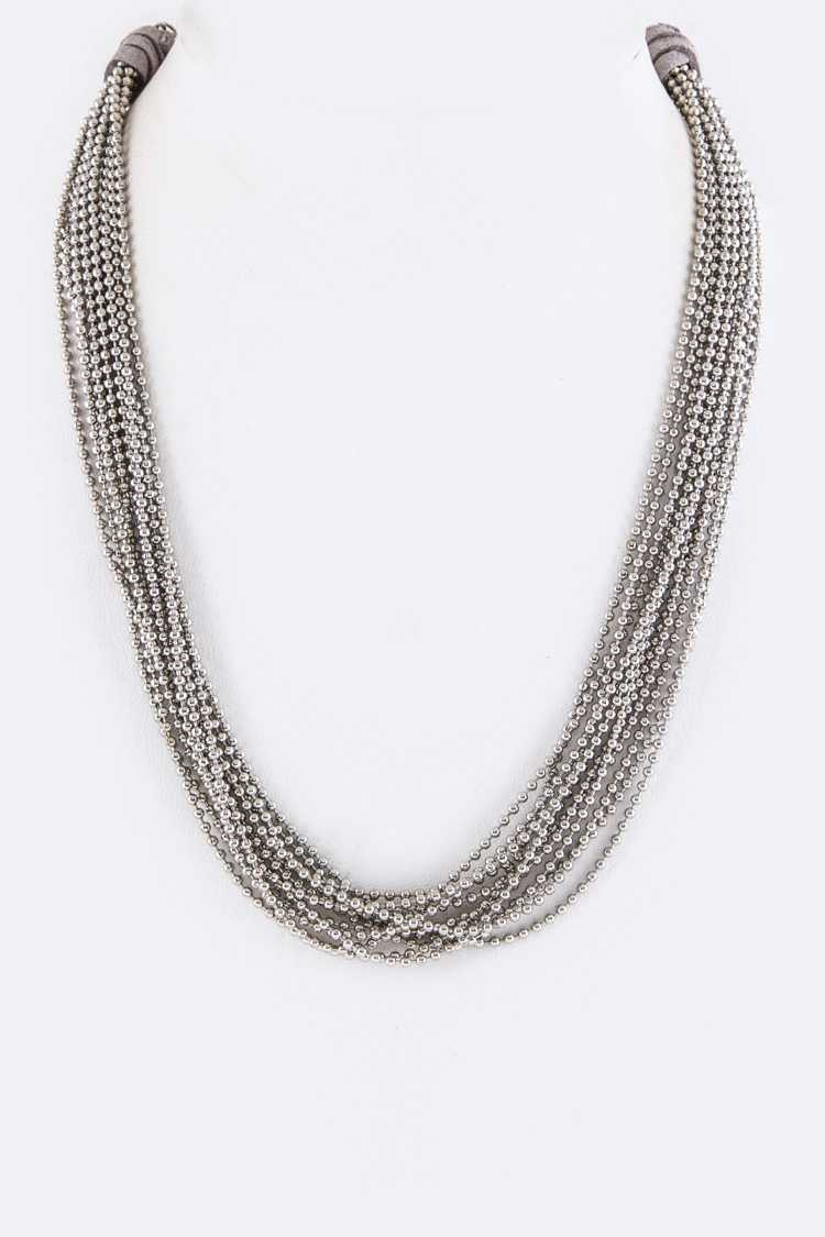 Layer Ball Chains Necklace