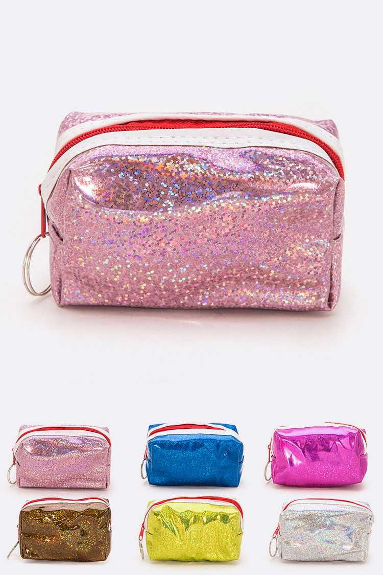 Glitter Small Coin Pouch Set