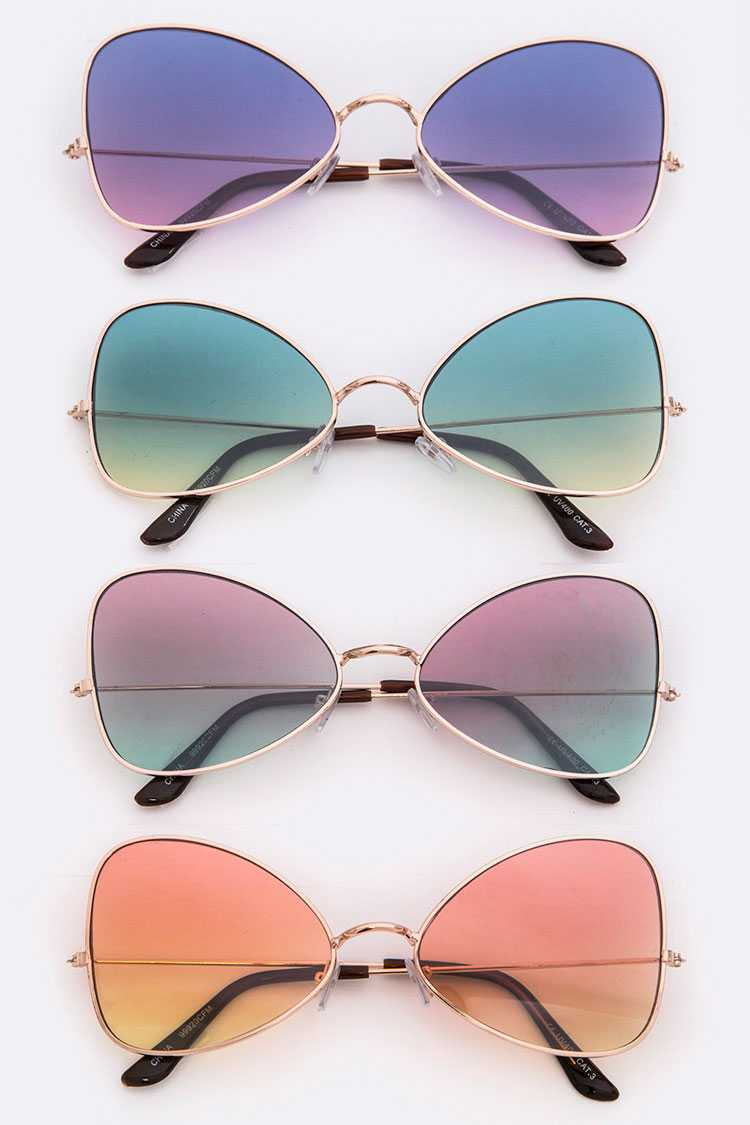 Gradient Lens Fashion Sunglasses
