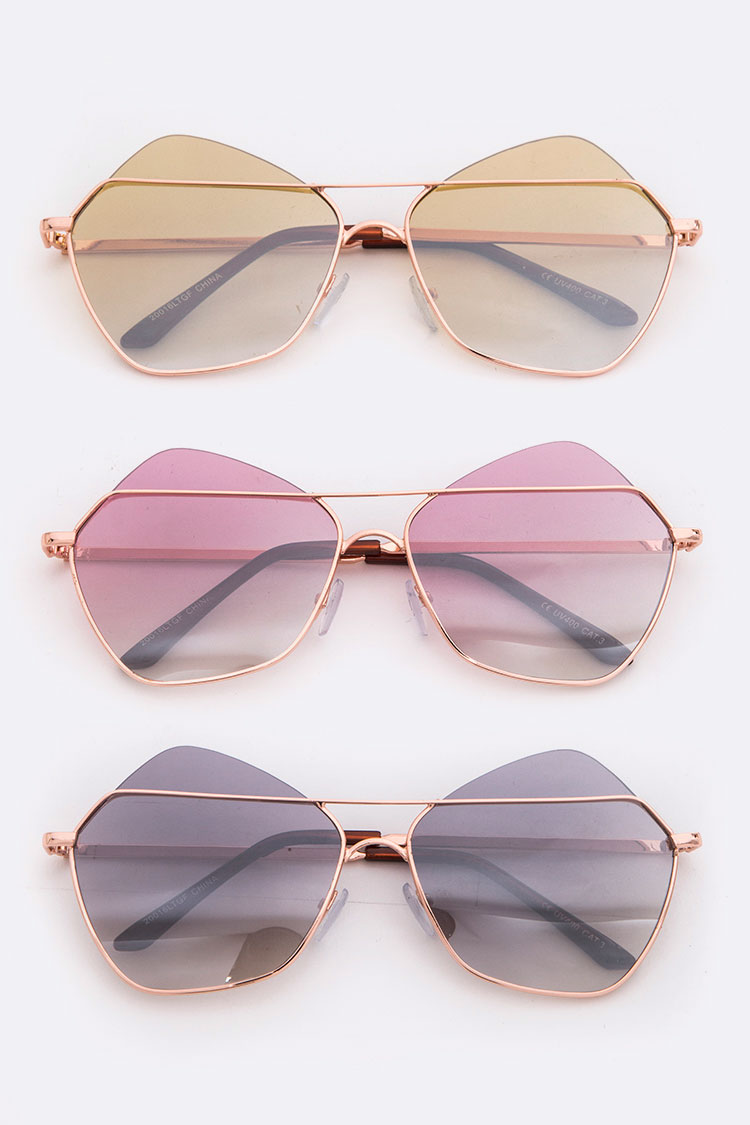 Gradient Lens Iconic Sunglasses