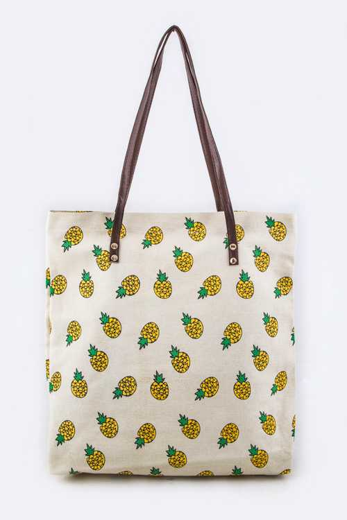 Pineapple Print Fashion Tote