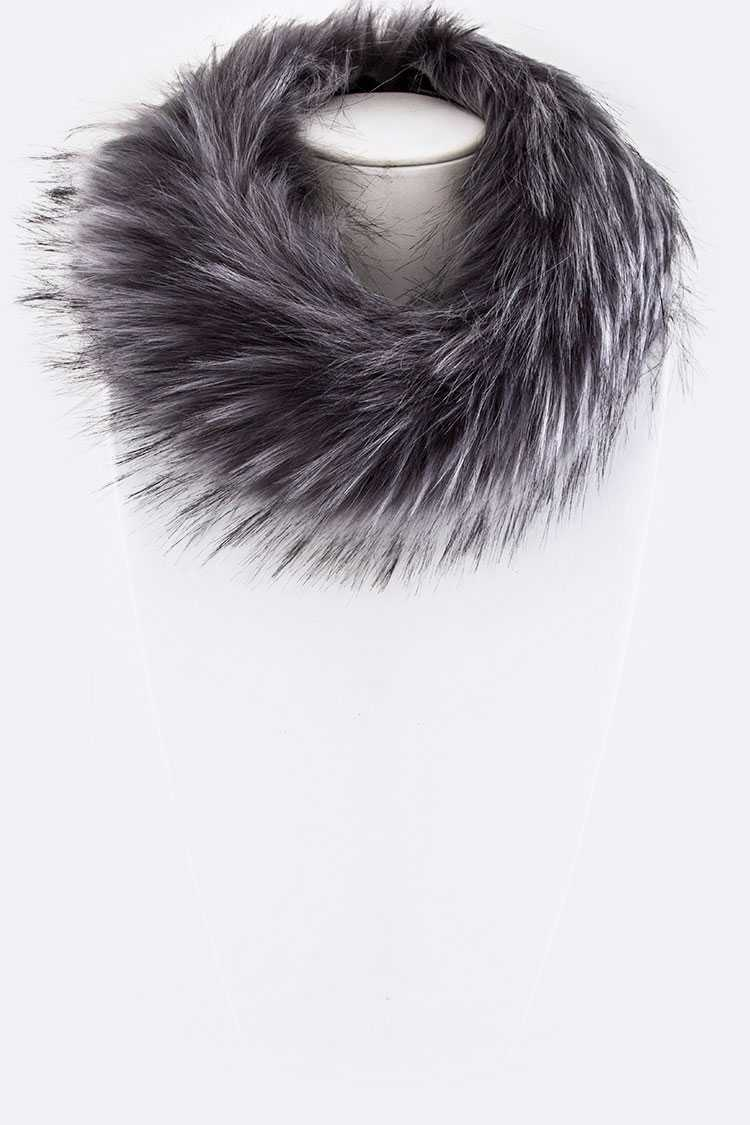 Fur Hoop Neck Warmer