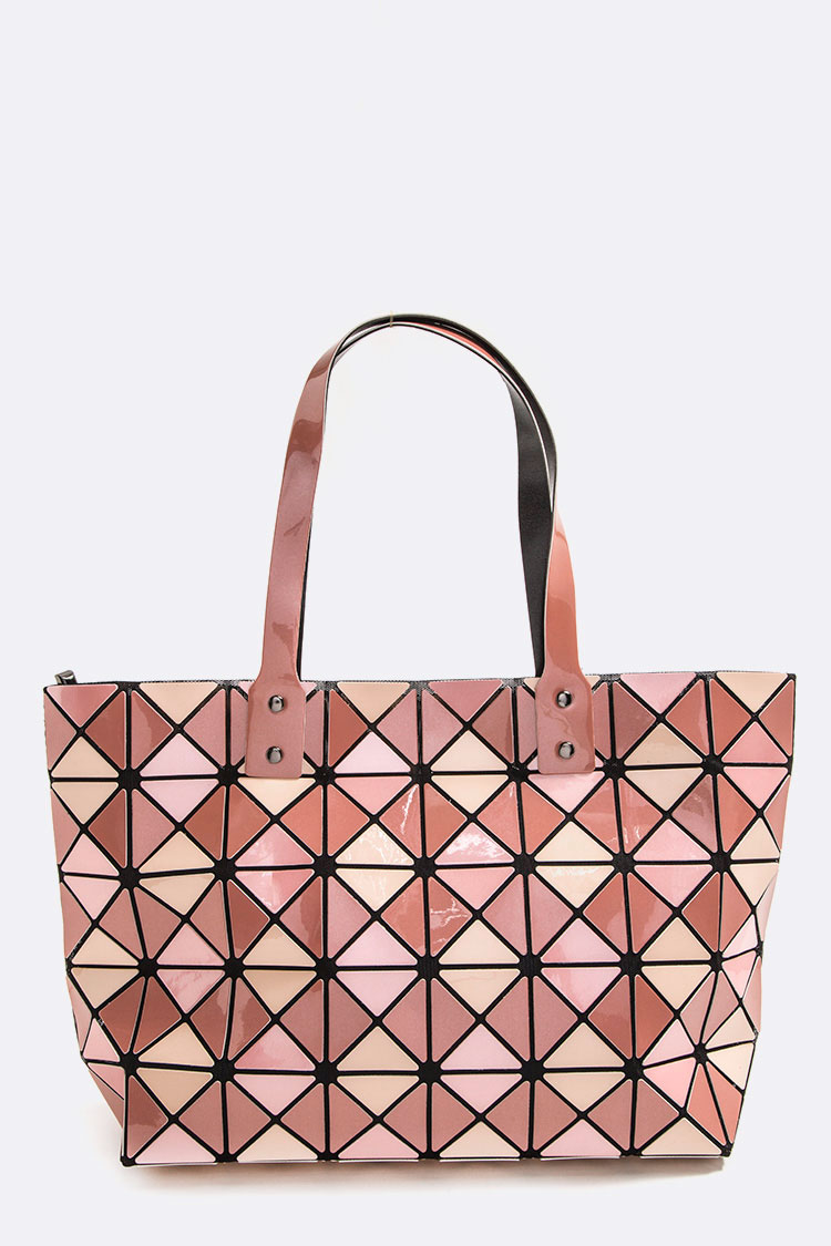 Geo Structured Iconic Tote