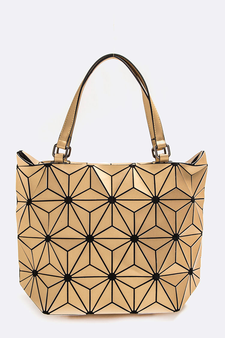 Geo Contrast Structure Tote Bag