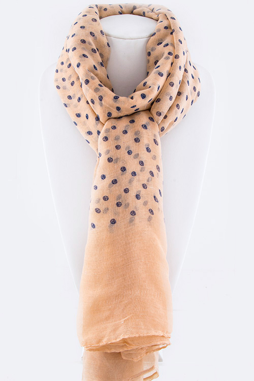 Mini Skull Dots Large Fashion Scarf