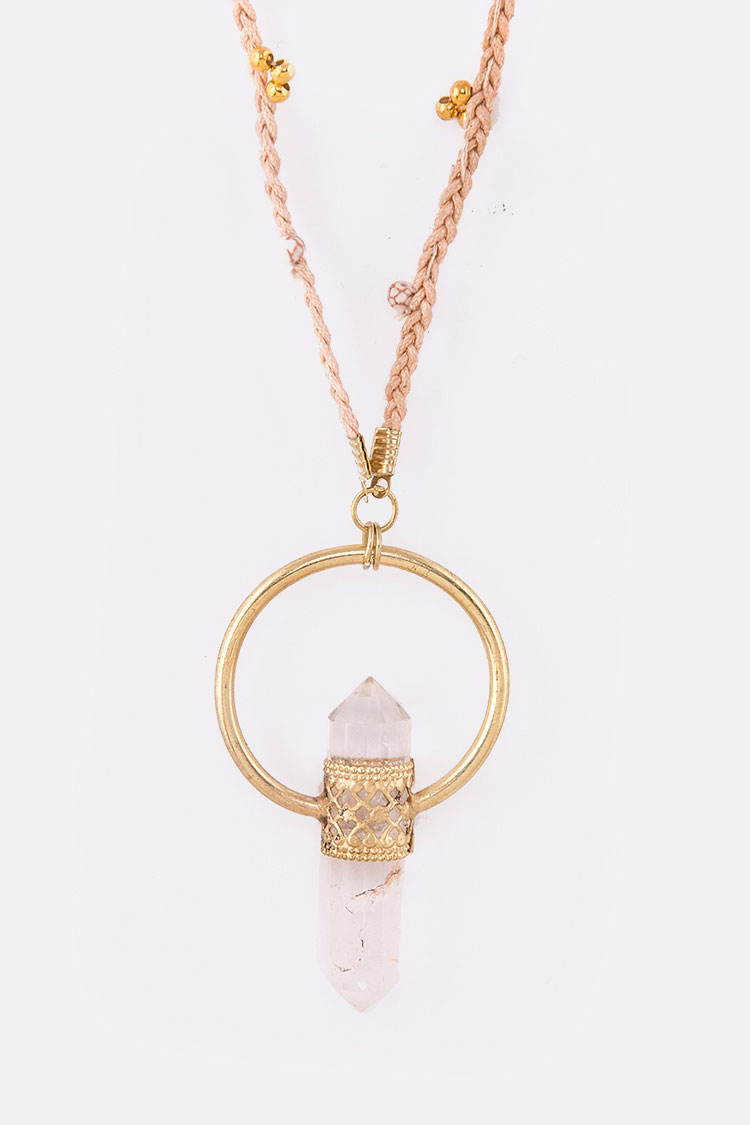 Quartz Iconic Pendant Long Necklace