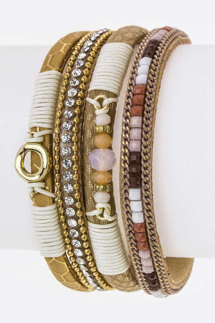 Mix Ornate Layer Bracelet