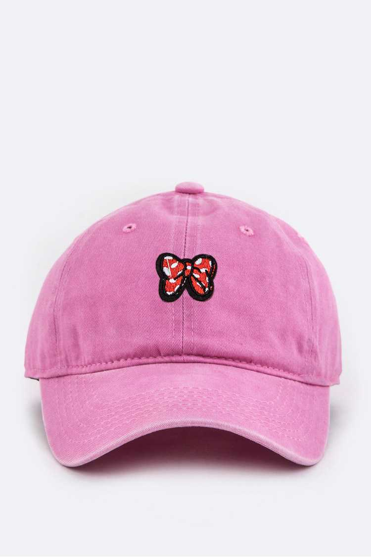 Toddler Size Bow Embroidery Cap