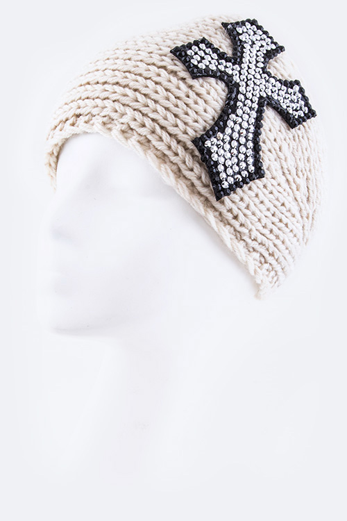 Crystal Cross Fashion Head Wrap