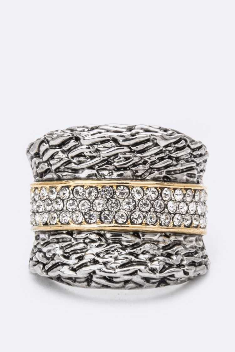 Crystal Line Ring