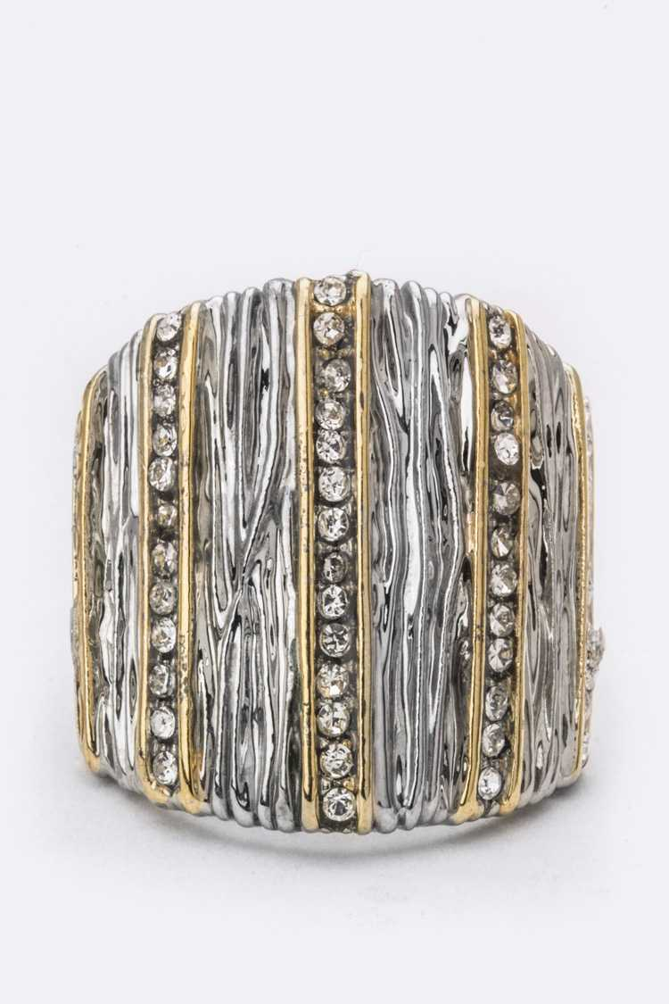 Crystal Lines & Textured Ring