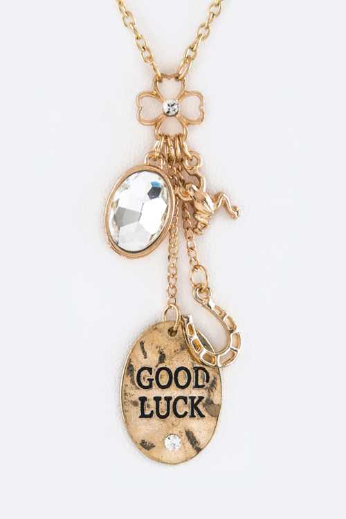 GOOD LUCK Mix Charms Necklace Set