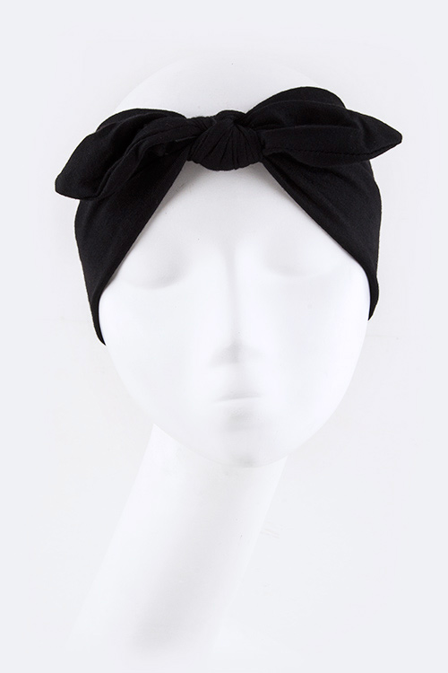 Knotted Jersey Knit Fashion Headband