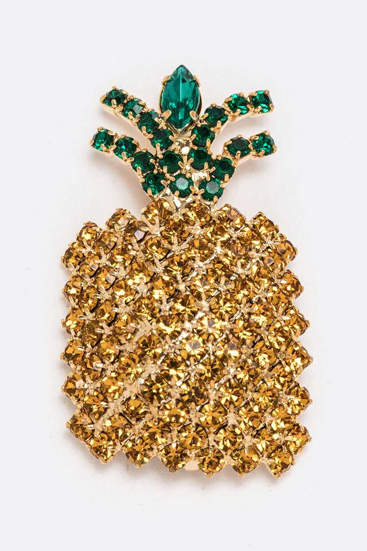 Crystal Pineapple Brooch