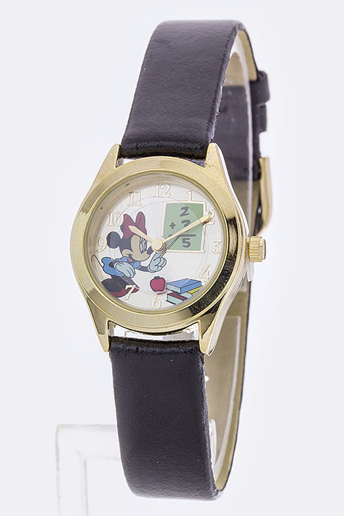 Minnie Moving Apple Dial Fashion Watch