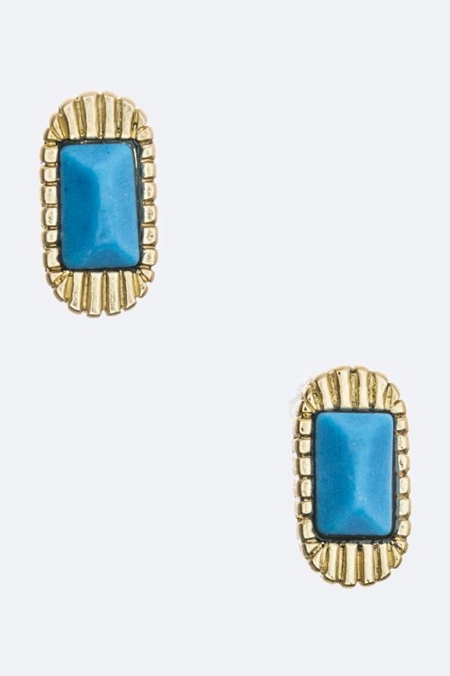 Paved Crystal Oval Studs