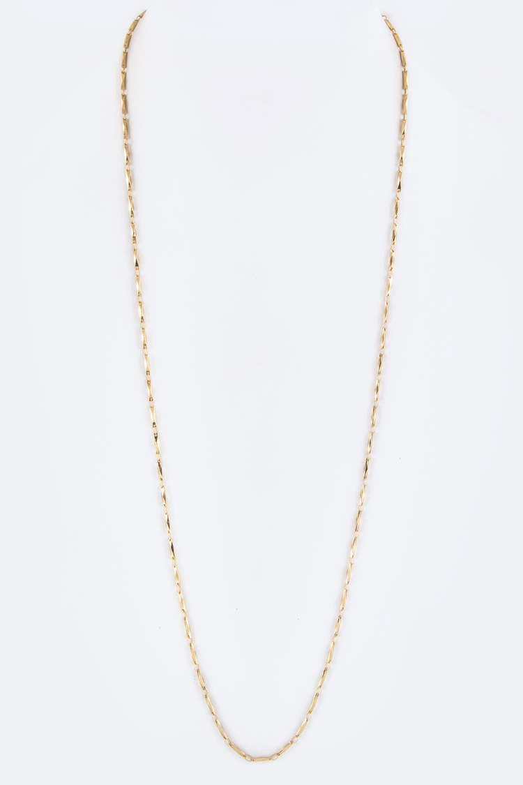"30"" Baguette Fine Chain Necklace - L"