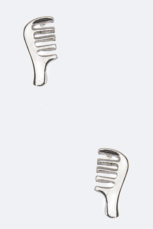 Sterling Silver Comb Studs