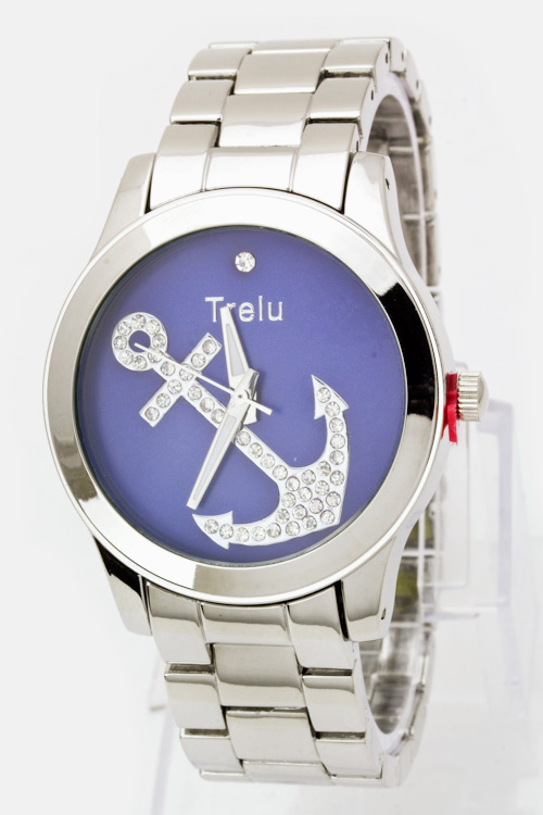 Crystal Anchor Fashion Watch