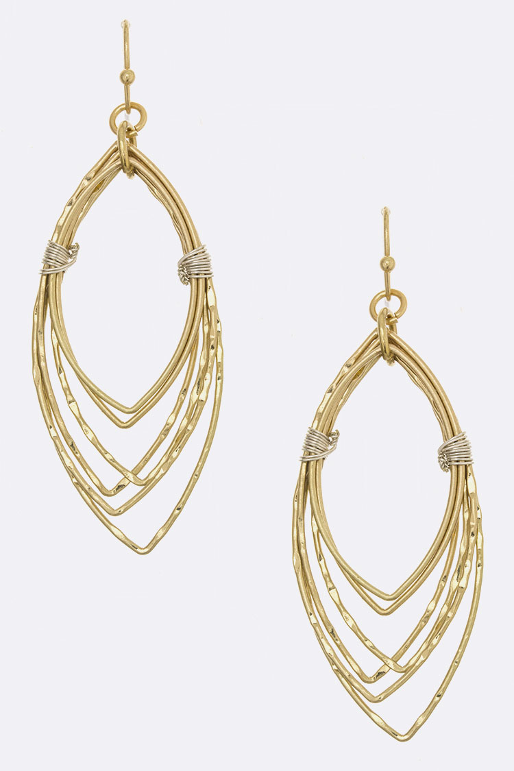 Wired Textured Cutout Layer Earrings