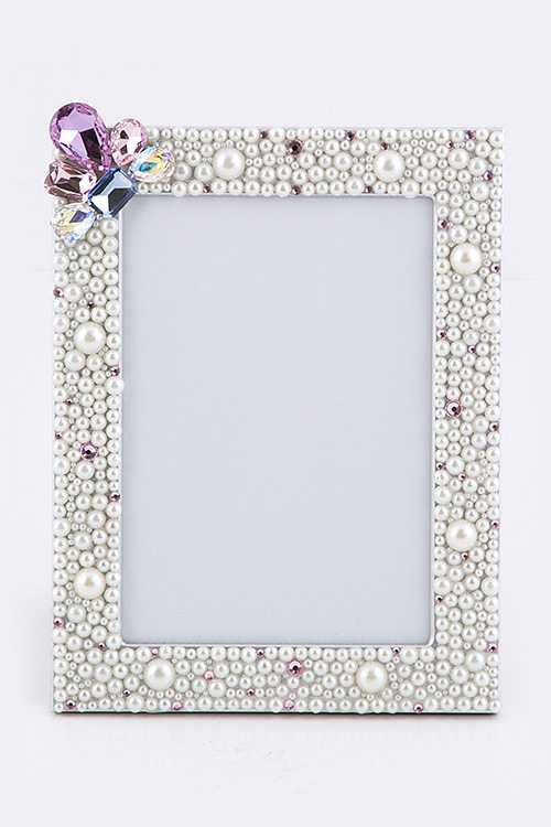 Crystal Pearl Large Picture Frame