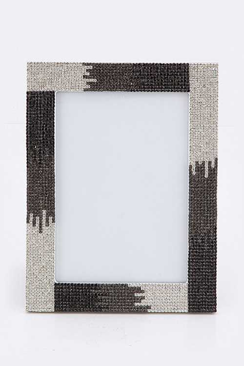 Small Ombre Crystal Picture Frame