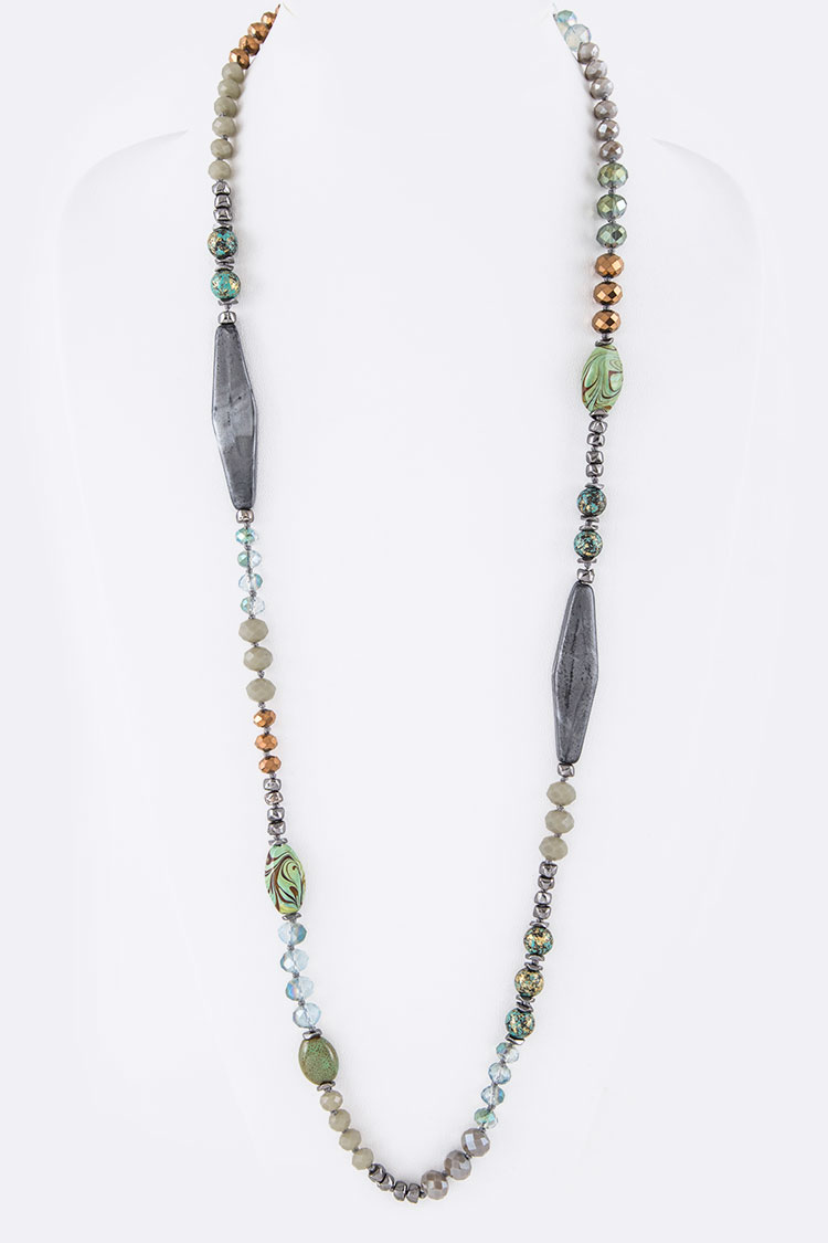 "Mix Beads 36"" Convertible Necklace"