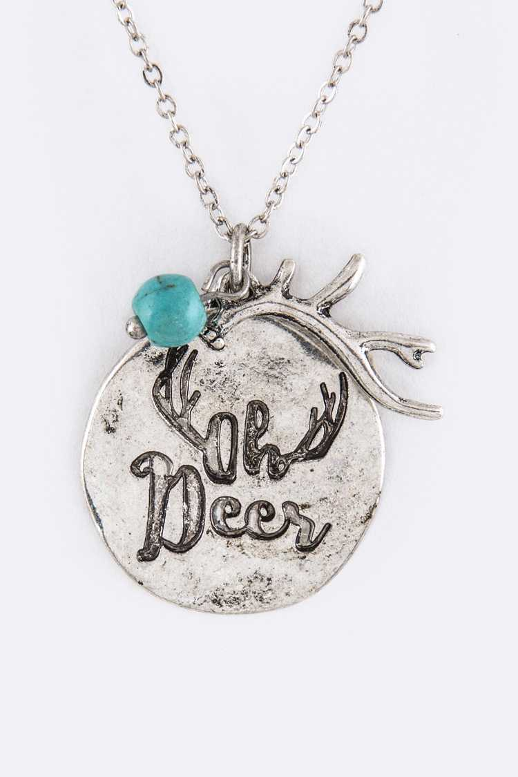 Oh Deer Mix Charms Necklace Set