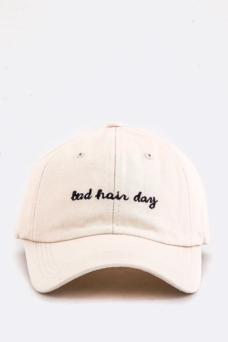 Bad Hair Day Embroidery Cotton Cap