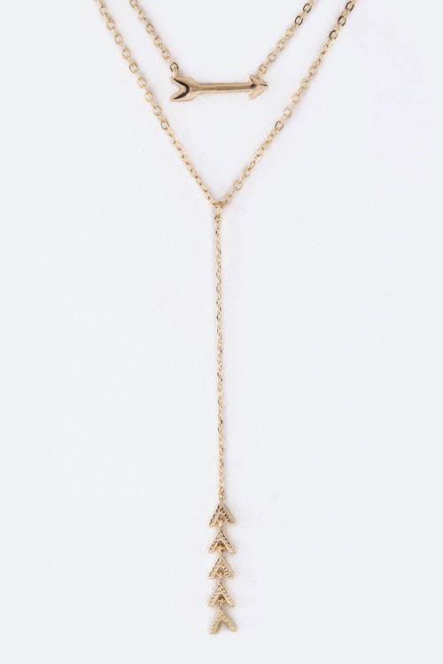 Arrow Charms Layer Necklace