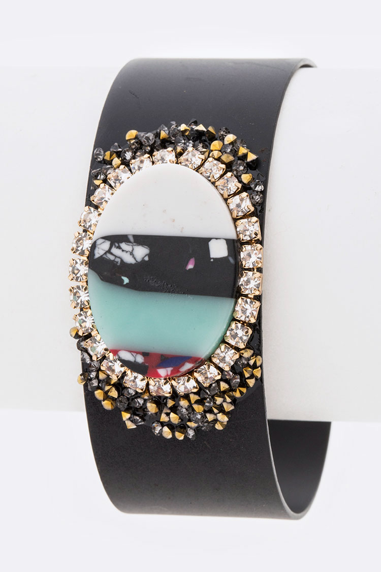 Mix Resin Iconic Adjustable Cuff