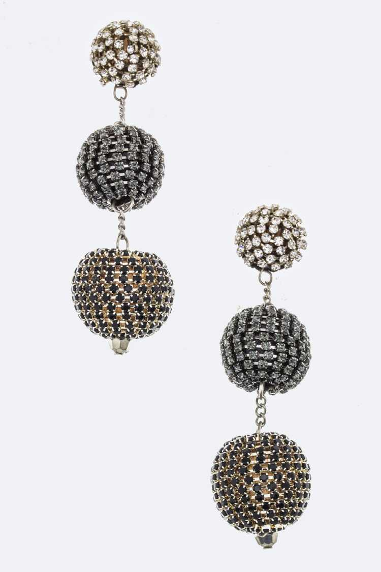 Crystalized Ball Drop Earrings