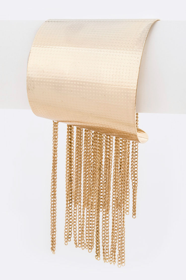 Iconic Fringe Chain Metal Cuff