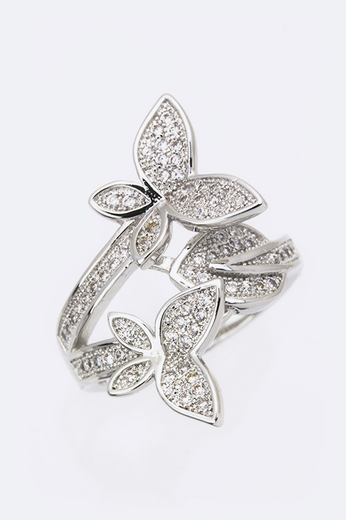 Cubic Zirconia Butterfly Fashion Ring