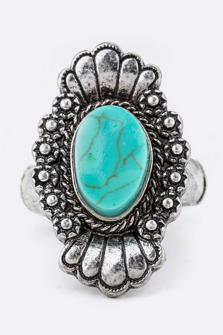 Turquoise Fashion Stretch Ring