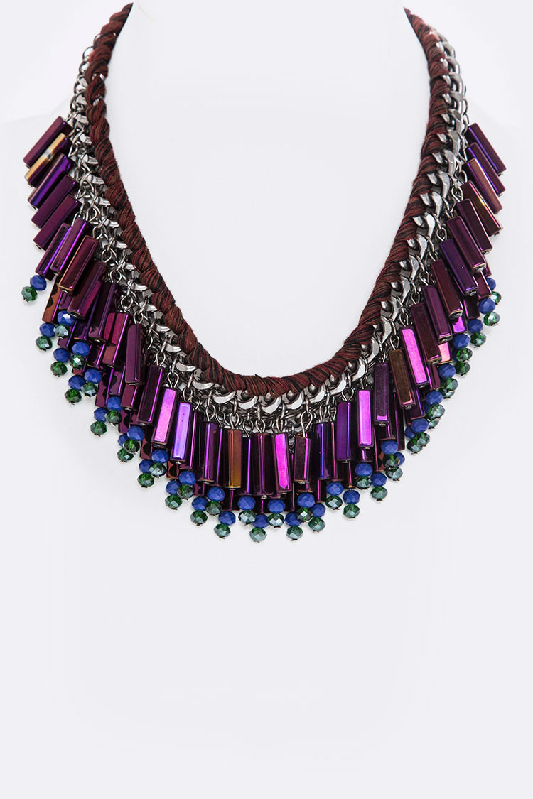 Fringe Mix Beads Necklace