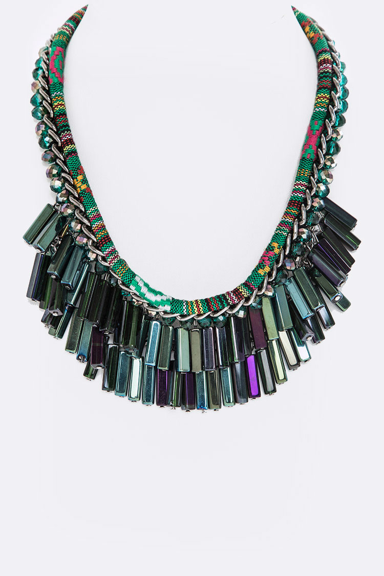 Fringe Beads Necklace