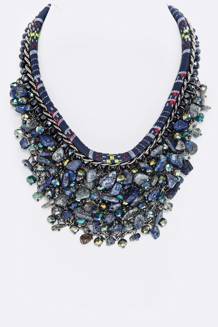 Layer Beads & Nuggets Necklace