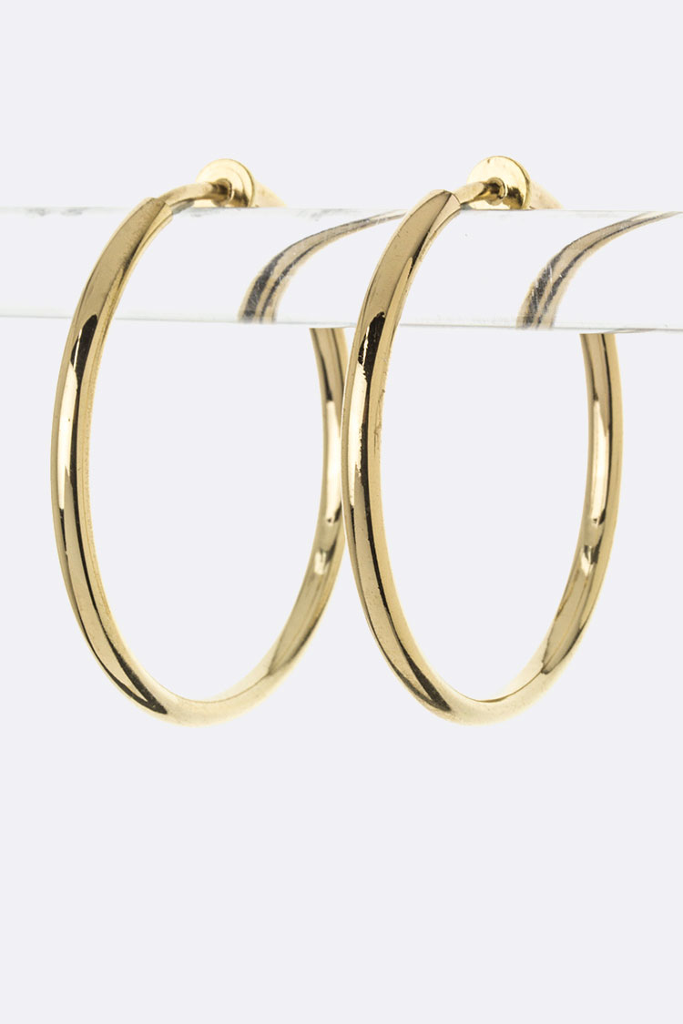 Metal Hoop Clip-On Earrings