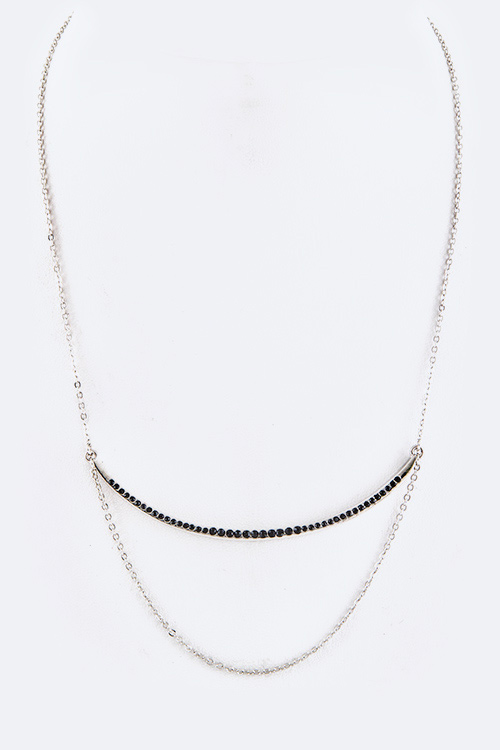 Crystal Bar Layer Necklace