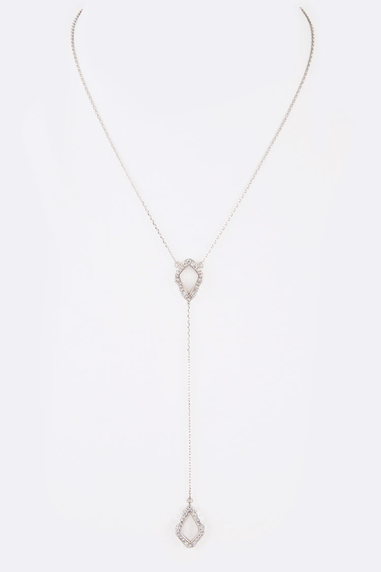 CZ Drop Pendant Necklace