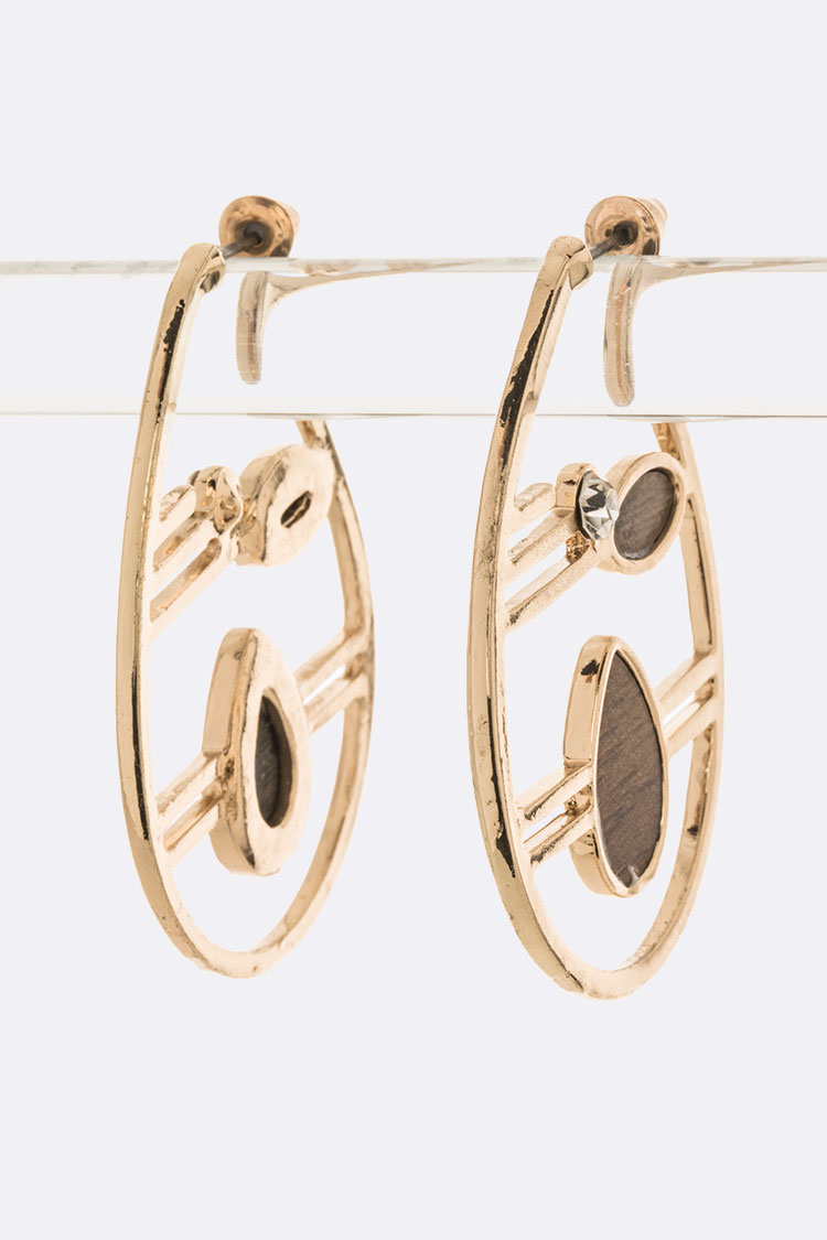 Wooden Inset Iconic Designed Hoops